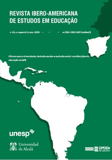 Visualizar (2020) v. 15, n. esp. 3, nov.  - Olhares para a diversidade, inclusão escolar e exclusão social: contribuições da educação social (Em tradução)