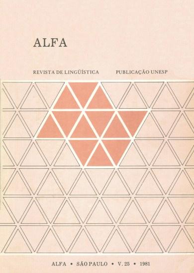 Visualizar v. 25 (1981)