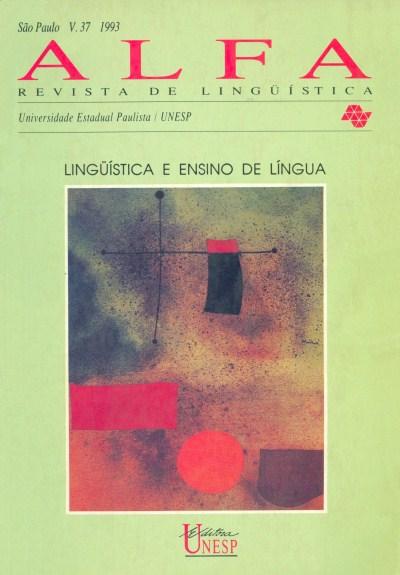 Visualizar v. 37 (1993): Lingüística e ensino de língua