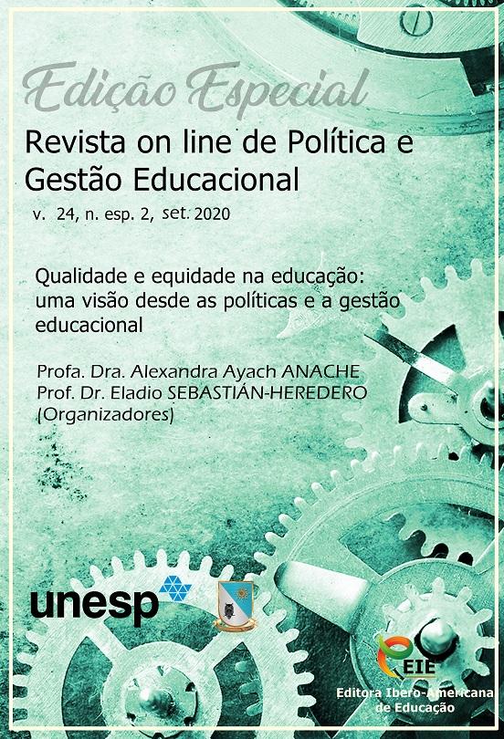 Visualizar v. 24, n. esp. 2, set. (2020) - Qualidade e equidade na educação - uma visão desde as políticas e a gestão educacional